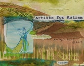 Set of six Note Cards Artists for Autism