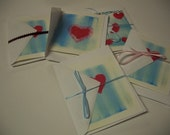 Set of two Heart Notecards Hope and Healing