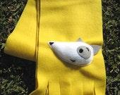 Plush Dog Yellow Fleece Scarf - FREE SHIPPING