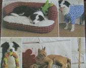 Butterick 4048 sewing pattern for dog and cat beds, toys and clothes