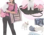 Simplicity 4716 sewing pattern for pet carrier, dog bed, cat blanket, treat bag
