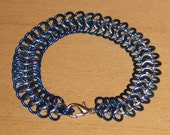 Blue and Silver Chainmail Bracelet