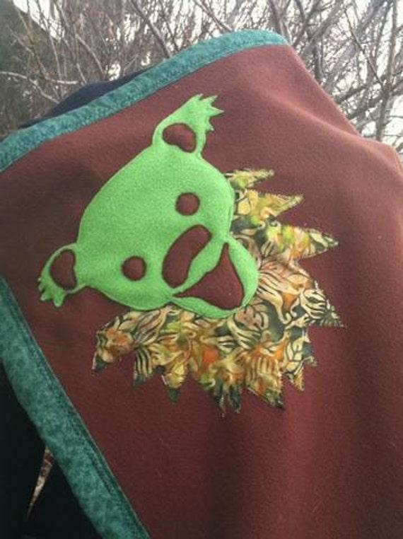 Boutique Infant Toddler Deadbear Fleece Blanket Hippie Patchwork