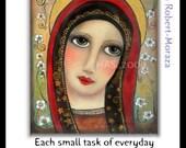 Virgin Mary religious Inspirational  folk art Print