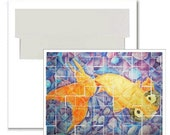 Celestial Goldfish Notecards