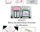 Soldered Glass Art Pendants DIY eBook How To Instructions Including Glass Cutting, Grinding and Soldering