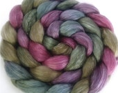 Handpainted Merino Tencel Wool Roving - 4 oz. ENCHANTED - Spinning Fiber