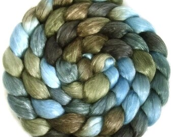 Handpainted Merino Tencel Wool Roving - 4 oz. TRIBE - Spinning Fiber