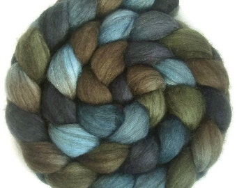 Handpainted Heathered BFL Roving - 4 oz. TRIBE - Spinning Fiber
