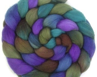 Handpainted Polwarth Wool Roving - 4 oz. CALYPSO - Spinning Fiber