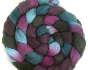 Handpainted Superfine Merino Wool Roving - 4 oz. TWILIGHT - Spinning Fiber