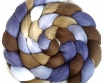 Handpainted Superfine Merino Wool Roving - 4 oz. SANDPIPER - Spinning Fiber