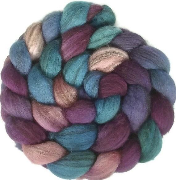 Handpainted Heathered BFL Wool Roving - 4 oz. HAWAII - Spinning Fiber
