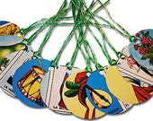 Mexican Loteria Paper Gift Tags Wishing Tree Tags Welcome Bag Name Tag