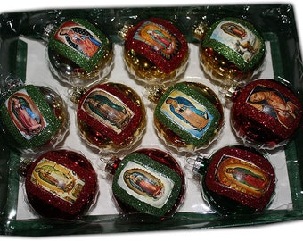 Mexican Christmas Ornaments Decorations Virgen de Guadalupe Catholic Holiday Gifts