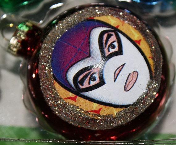 Mexican Christmas Ornaments Wrestler Luchador Holiday Decoration Lucha Libre Christmas Tree