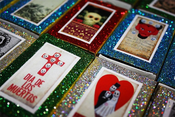Day of the Dead Matchbox Wedding Party Favors