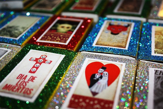 Day Of The Dead Wedding Gifts: Day Of The Dead Wedding Mexican Matchbox Party Favors