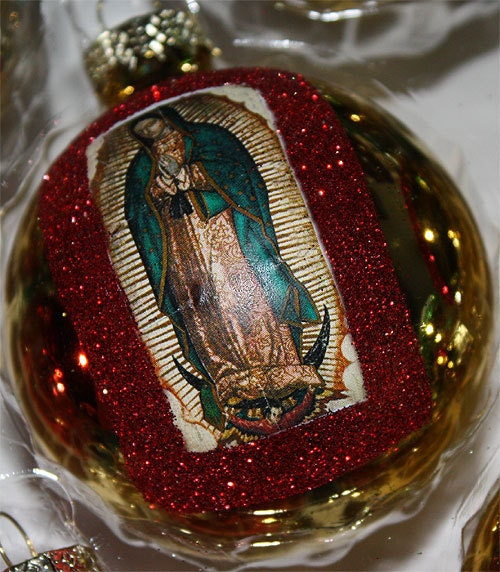 Virgen De Guadalupe Mexican Christmas Ornaments Decorations