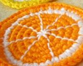 Orange Slice Desk Coaster - Single