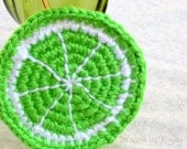 Lime Coaster - Single Citrus Slice Coaster