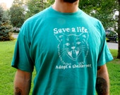 Save a Life - Adopt a Shelter Pet (Green Unisex XL)