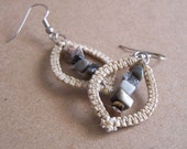Convex Macrame Earrings- Jasper
