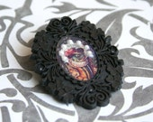 Limited edition - Victorian fairytale frog brooch
