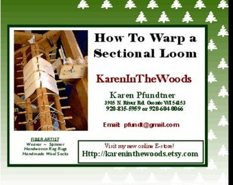 Instructional DVD --- WEAVING - How to Warp a Sectional Loom --- self-produced and self-distributed