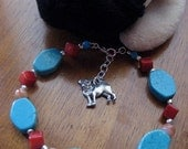 PUG RESCUE BRACELET turquoise\/red