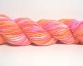 SHOP WIDE SALE-ALL YARNS JUST 9.99 EACH----Handspun  Hand Dyed Punta Yarn- 72yds (hs1480)