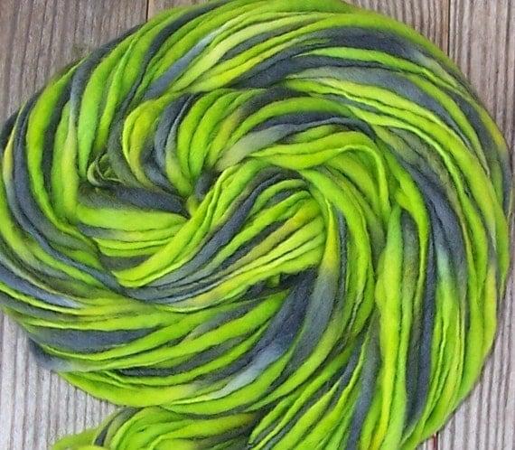 Handspun Hand-Dyed Merino Yarn-GOBLIN