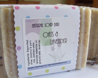 Lavender Oatmeal Soap- Vegan Cold Process by Shower Treat Soap