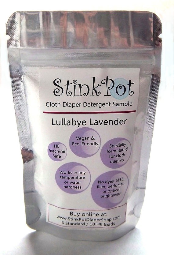 StinkPot Cloth Diaper Laundry  Detergent  Sample- FREE SHIPPING