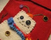 Robot\/Snowman Stocking