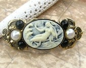 Mermaid Cameo Hair Barrette