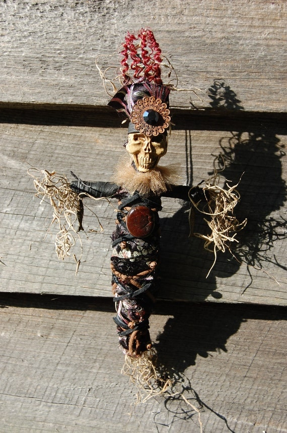 Magical New Orleans Style Hoodoo Voodoo Doll Good JuJu by Tink