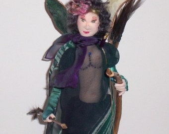 Fiber Art Doll, Art Doll, Mythology, Artemis, Goddesss of the Wilderness, Handmade Cloth Doll, OOAK