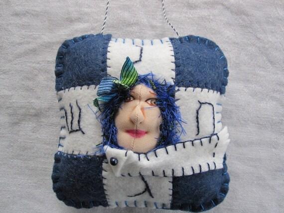 Addie - For Hanukkah - OOAK ORNAMENT