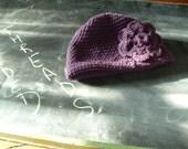 Hat of the Jaded Purple Flower