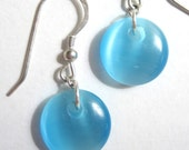 EYE CANDY irridescent blue dangles
