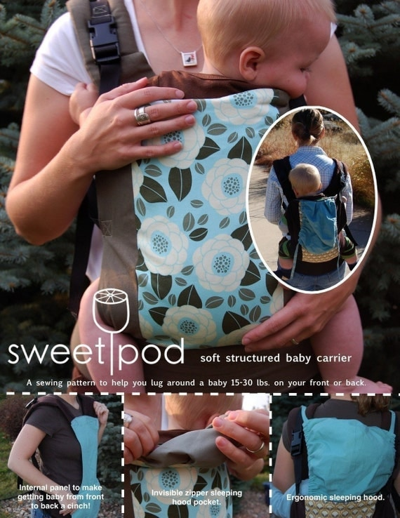 SweetPod baby carrier PDF sewing pattern