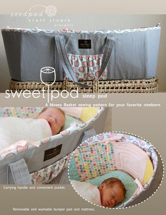 SweetPod sleep pod Moses basket PDF pattern