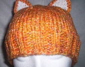 Orange Kitty-Ear Hat - Special Order for Cre8ivecat