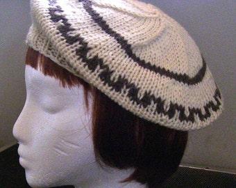 Handknit Wool Beret/Tam