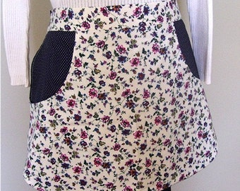 Pocket Apron made with vintage fabrics CLEARANCE