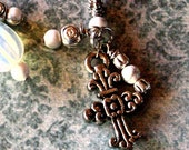 Antique Silver Cross Bookmark