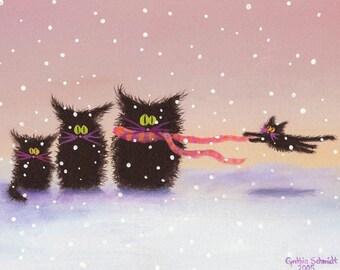Snowcats - Matted Print