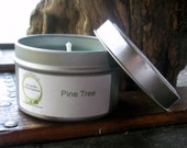 Balsam Fir, Pine Tree Soy Candle, Travel Tin 6 oz