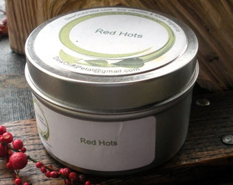 Red Hots Cinnamon Scented Soy Candle Travel Tin
